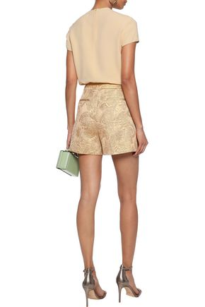 REDValentino Metallic matelassé shorts