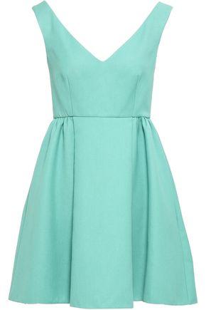 REDValentino Pleated cotton-blend mini dress