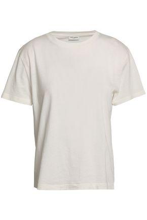 SAINT LAURENT Cutout cotton-jersey T-shirt