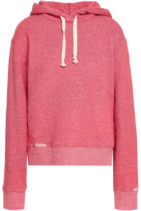 SAINT LAURENT Printed French cotton-terry hooded sweatshirt