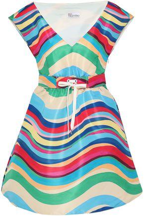 REDValentino Printed faille mini dress
