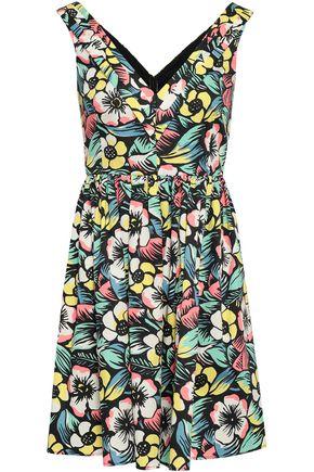 REDValentino Floral-print stretch-cotton mini dress