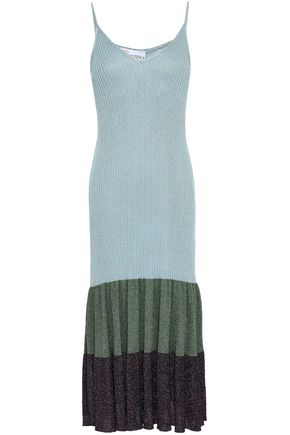 REDValentino Metallic knitted midi dress