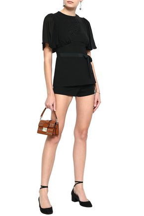 REDValentino Embroidered stretch-jersey top and shorts set