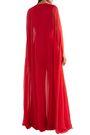REEM ACRA Cape-effect silk-chiffon jumpsuit