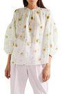 GIAMBATTISTA VALLI Ruffled floral-print silk-chiffon blouse