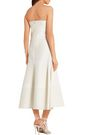 ROKSANDA Strapless cotton and silk-blend midi dress