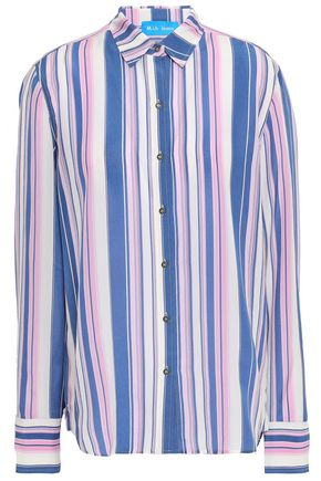 M.I.H JEANS Striped silk crepe de chine shirt