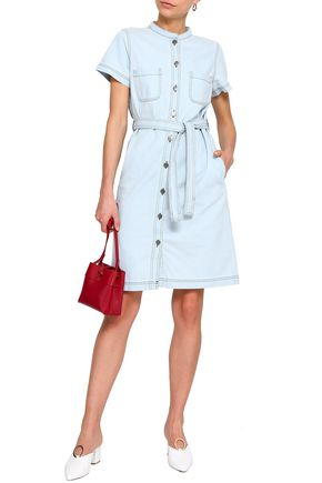 M.I.H JEANS Belted denim mini shirtdress