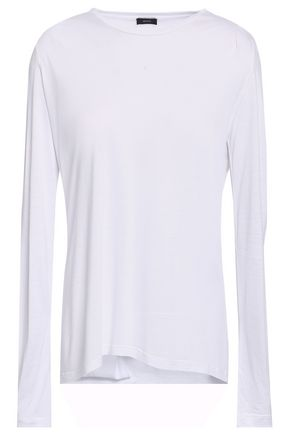 JOSEPH Draped mélange jersey top