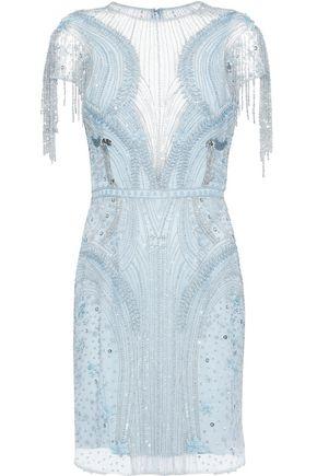 ZUHAIR MURAD Embellished silk-blend tulle mini dress