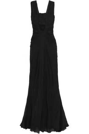 ZUHAIR MURAD Embellished tulle and silk-chiffon gown