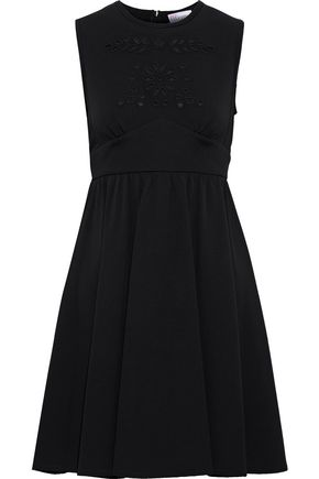 REDValentino Broderie anglaise cady mini dress