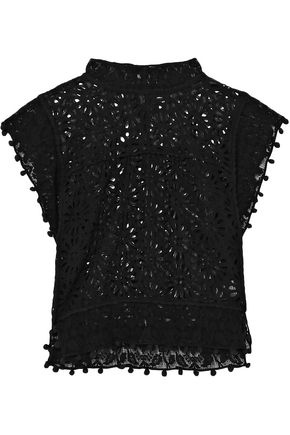 1bca70fe5e ISABEL MARANT Kery lace-trimmed broderie anglaise cotton top