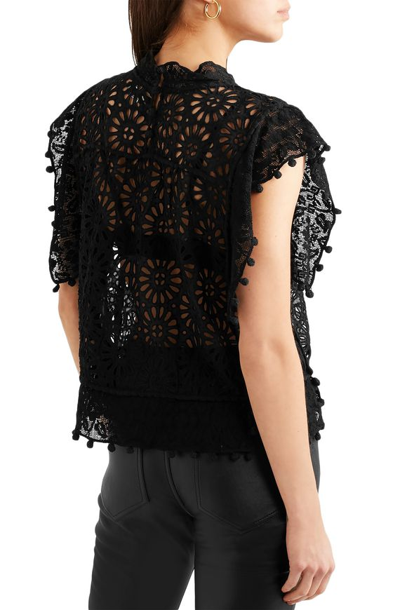 45eda3aeaa Kery lace-trimmed broderie anglaise cotton top | ISABEL MARANT ...