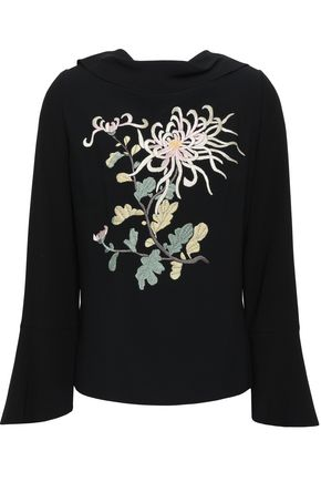 PETER PILOTTO Embroidered cady blouse
