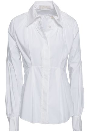 PETER PILOTTO Cotton-blend poplin shirt