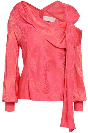 PETER PILOTTO Cutout satin-jacquard blouse