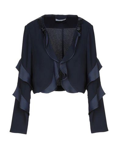 Фото - Женский пиджак EXTENZO Paris темно-синего цвета