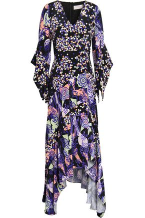 PETER PILOTTO Printed silk-crepe midi dress
