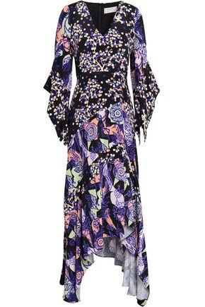 ANCIENT GREEK SANDALS x PETER PILOTTO Printed silk-crepe midi dress