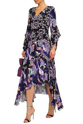 a5a0d74b3c52c PETER PILOTTO Printed silk-crepe midi dress