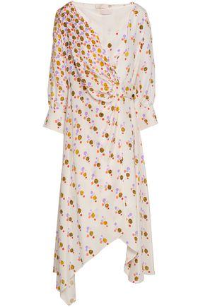 PETER PILOTTO Silk crepe de chine wrap dress