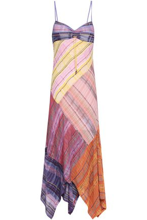 PETER PILOTTO Paneled checked stretch-knit maxi dress