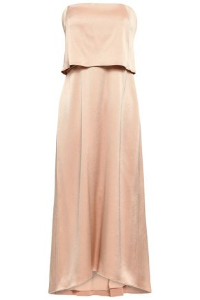 33d9e7501955 Layered satin midi dress | HALSTON HERITAGE | Sale up to 70% off ...