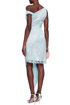 PETER PILOTTO Off-the-shoulder ruched lace dress