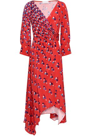 PETER PILOTTO Silk crepe de chine wrap dress