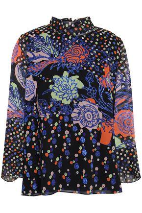 ANCIENT GREEK SANDALS x PETER PILOTTO Printed silk-georgette blouse