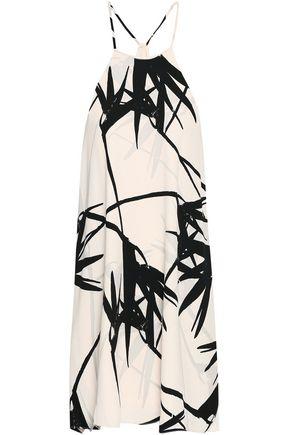 HALSTON HERITAGE Printed crepe dress