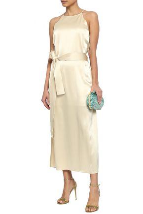 HALSTON HERITAGE Satin slip dress