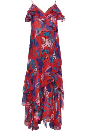 PETER PILOTTO Printed tiered silk-chiffon maxi dress