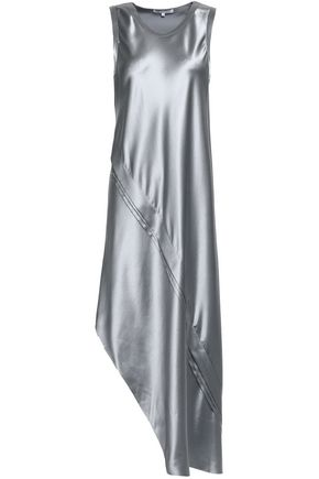 HELMUT LANG Metallic silk-satin dress