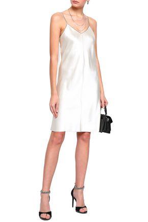 HELMUT LANG Embellished silk-satin mini dress