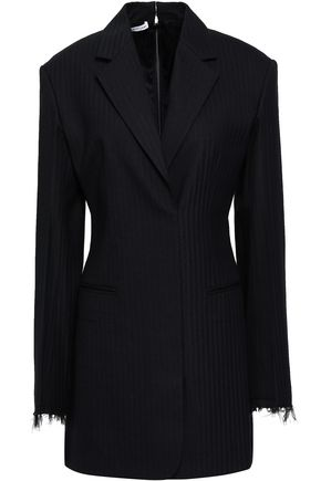 HELMUT LANG Herringbone wool-blend mini dress