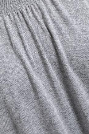 HALSTON HERITAGE Cold-shoulder knitted top