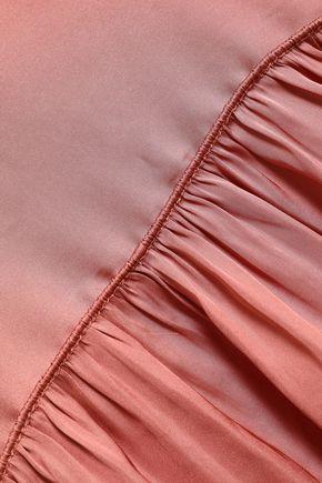 HALSTON HERITAGE Crinkled-sateen tunic