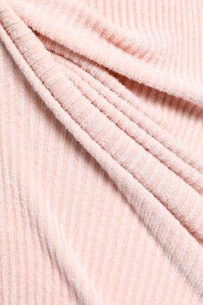 HELMUT LANG Off-the-shoulder ribbed chenille dress