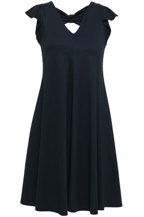 REDValentino Cutout embellished stretch-knit dress