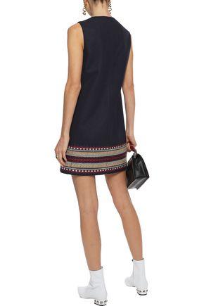 REDValentino Embroidered wool-blend mini dress