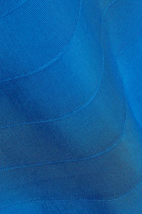 HERVÉ LÉGER Fluted bandage gown
