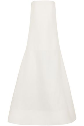 ROKSANDA Maury strapless wool and silk-blend gown