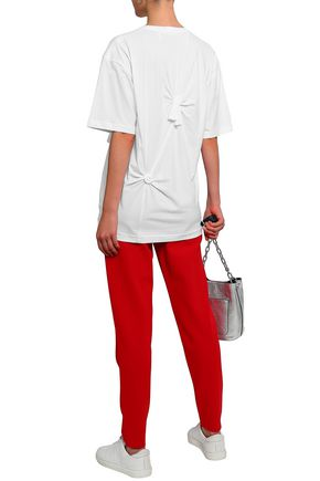 HELMUT LANG Oversized knotted cotton-jersey T-shirt