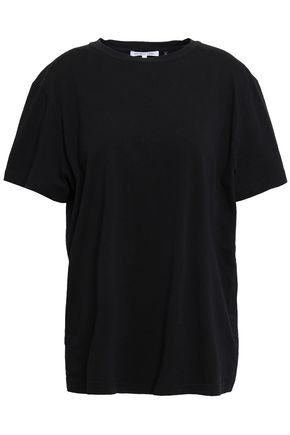 HELMUT LANG Ring-embellished printed cotton-jersey T-shirt