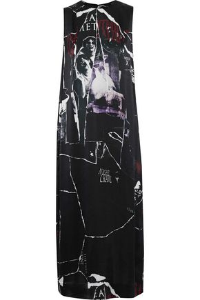 McQ Alexander McQueen Printed silk midi dress