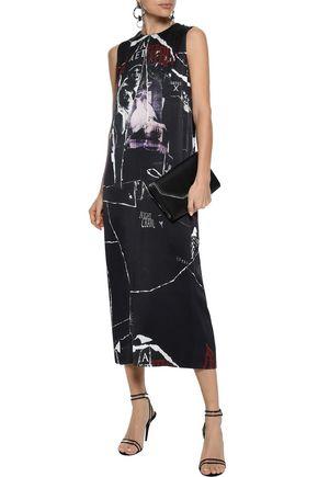 McQ Alexander McQueen Printed silk midi dress