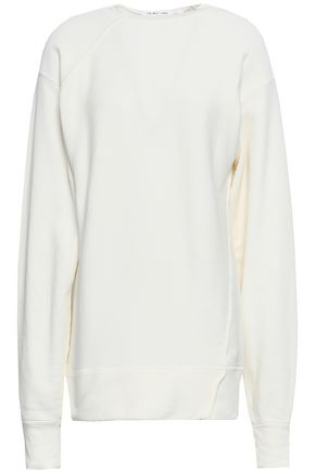 HELMUT LANG French cotton-terry sweatshirt